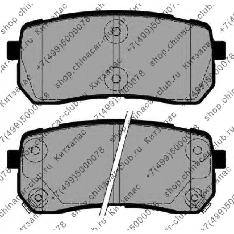 Колодки тормозные задние дисковые HAVAL H8 (Китай) комплект