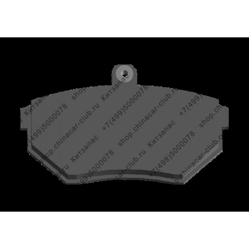 Колодки тормозные передние с пружинкой (комплект) Амулет A11-3501080