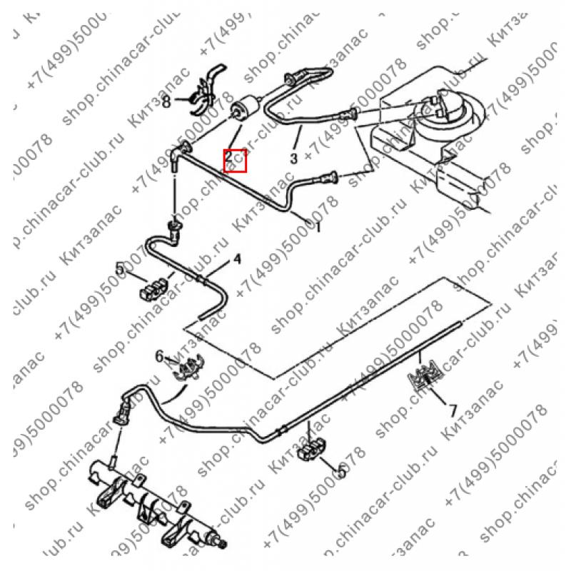 Фильтр топливный Dongfeng S30/H30 Cross/AX7 (аналог)