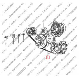 Ремень генератора и компрессора кондиционера S30/H30 Cross (аналог)