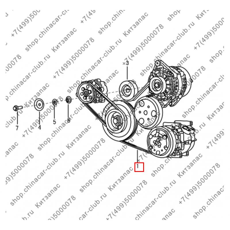 Ремень генератора и компрессора кондиционера S30/H30 Cross (оригинал)
