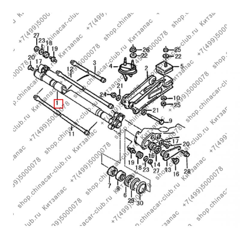 Балка задней подвески (ГОЛАЯ) H30 Cross/ S30