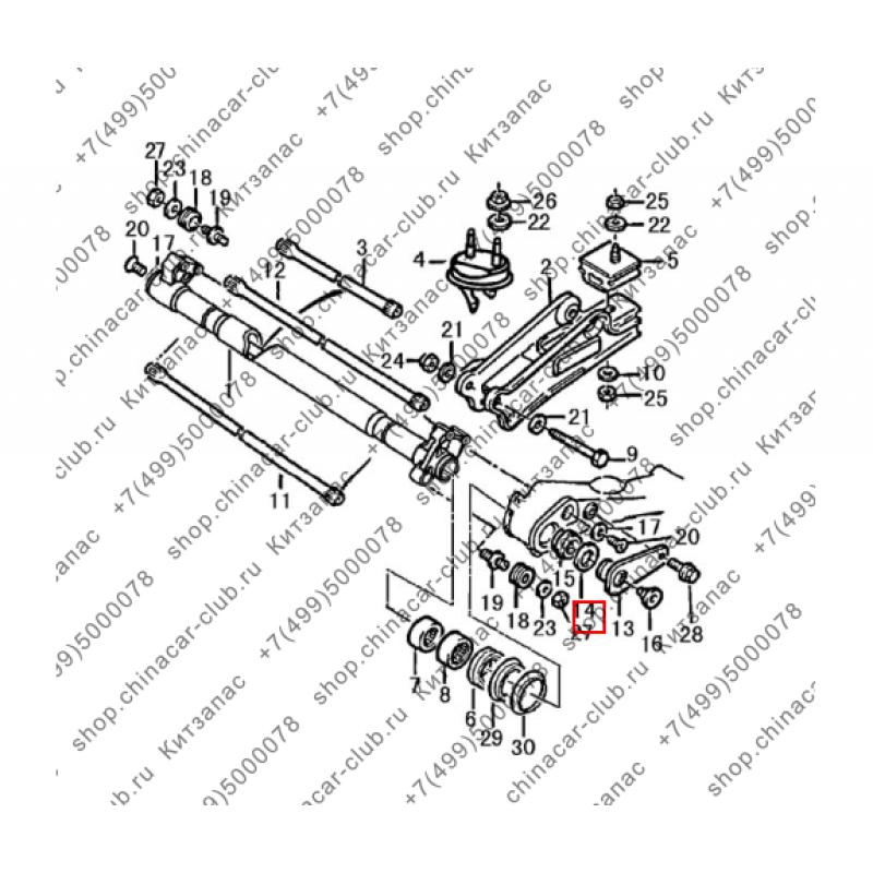 Кольцо уплотнительное стабилизатора задней подвески