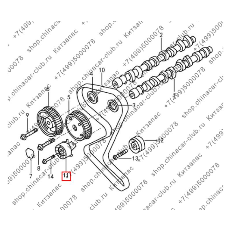 Ролик натяжной ГРМ Dongfeng АХ7 2017- аналог