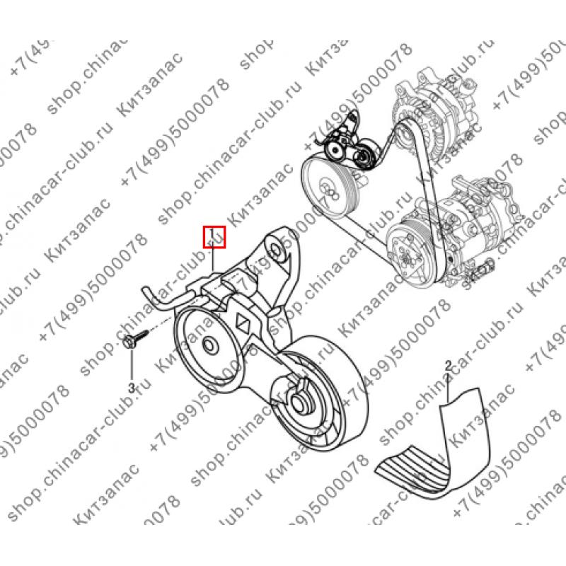 Ролик натяжной приводного ремня Dongfeng AX7 2017-