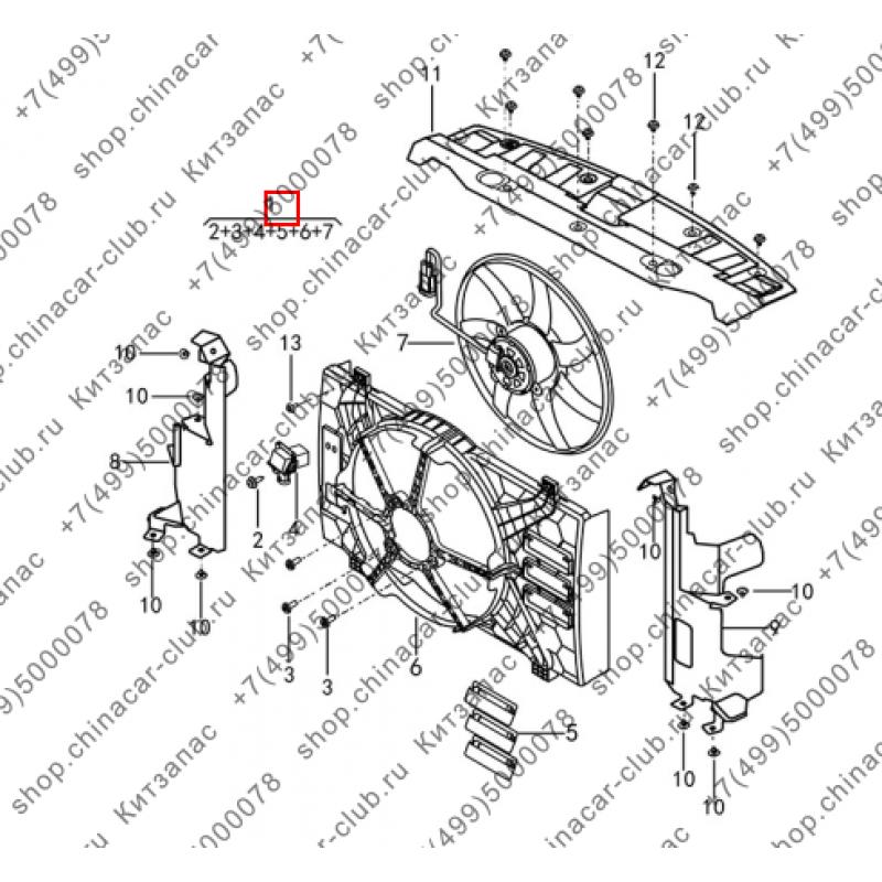 Электровентилятор охлаждения двигателя в сборе Dongfeng AX7 2017-