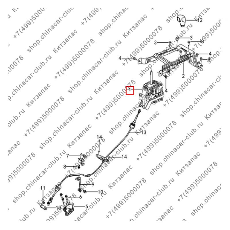 Механизм переключения передачи АКПП Dongfeng AX7 2017-