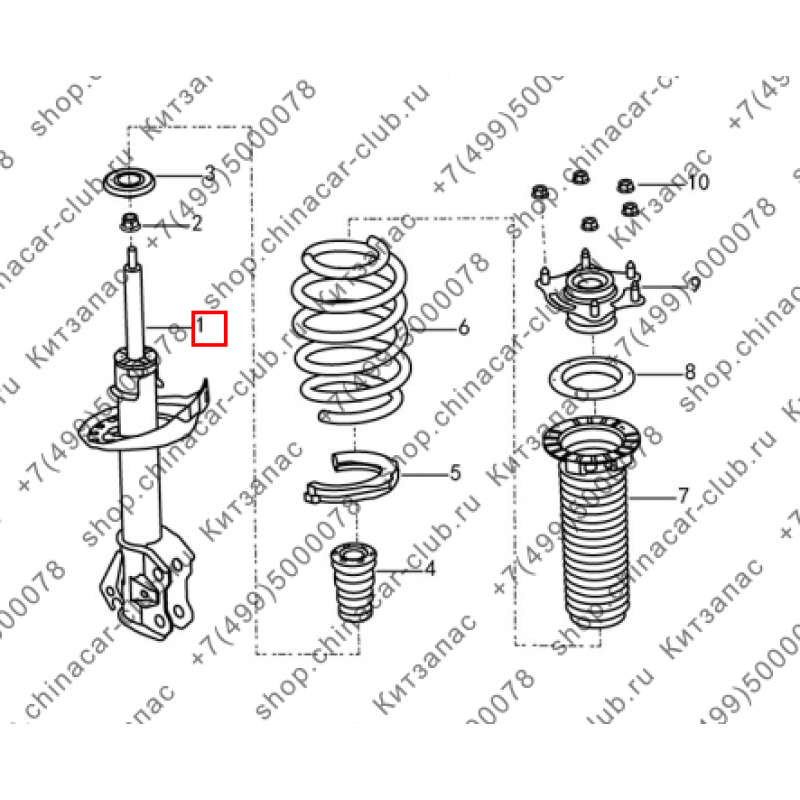 Амортизатор передний правый Dongfeng AX7 2017-
