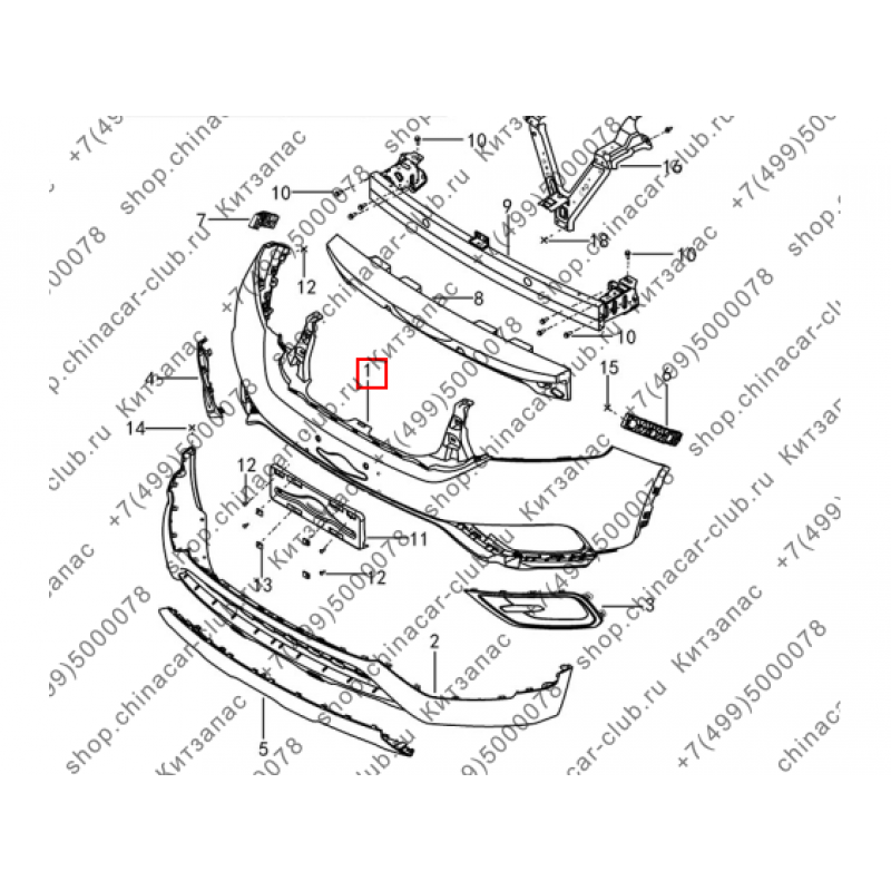 Бампер передний Dongfeng AX7 2017-