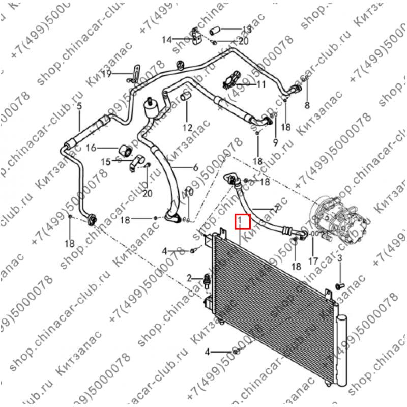 Радиатор кондиционера Dongfeng AX7 2017-