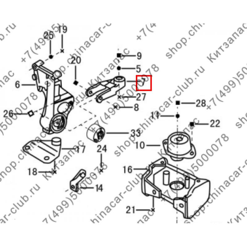 Вилка кронштейна опоры двигателя
