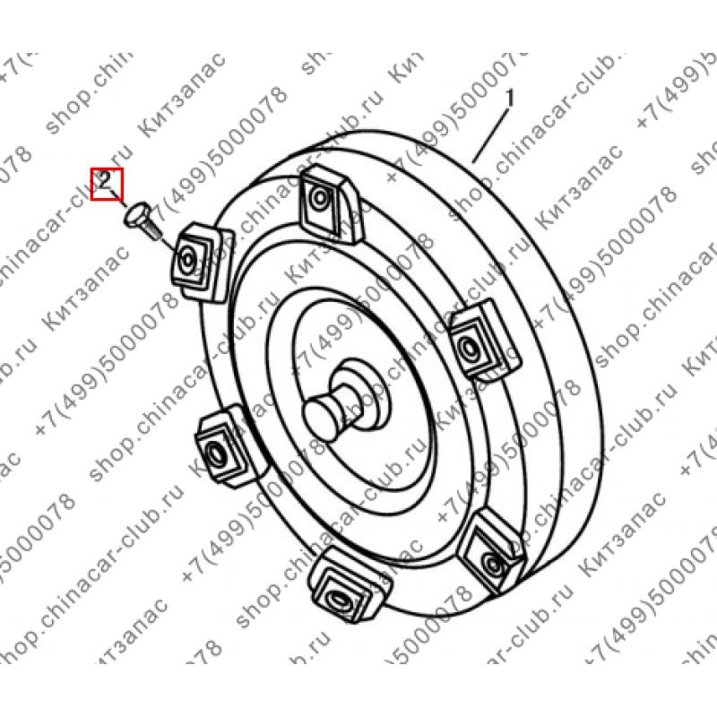 Болт гидротрансформатора акпп