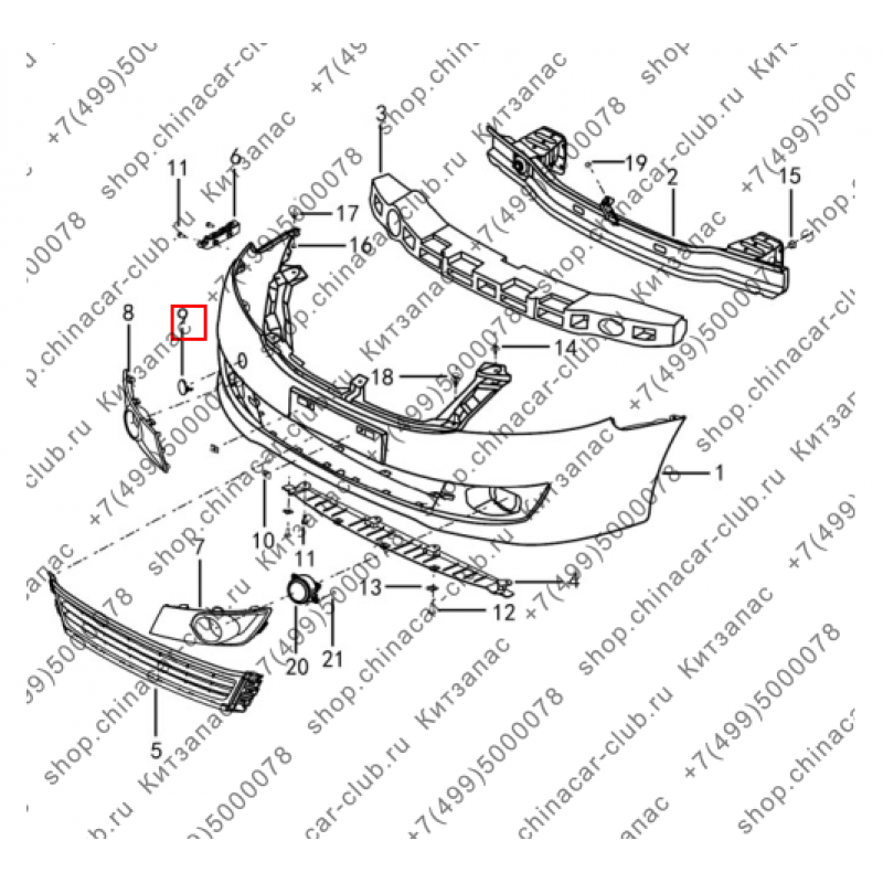 Заглушка переднего буксировочного крюка s30