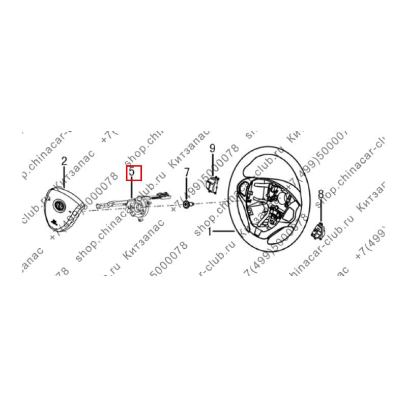 Механизм контактного переключателя в руле