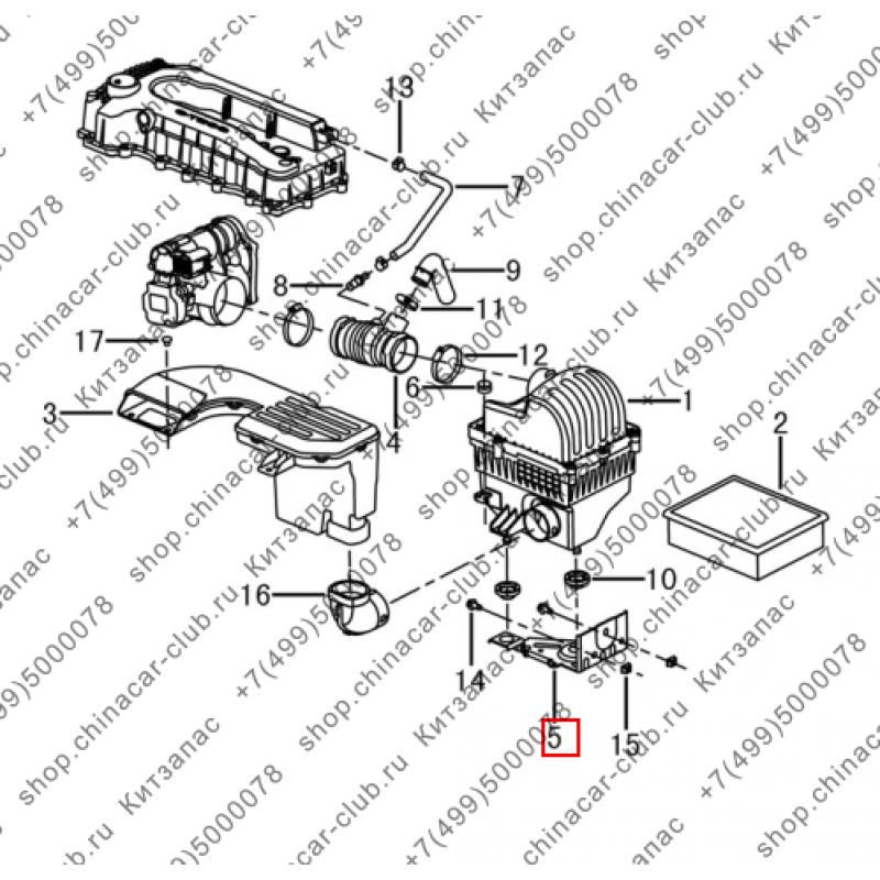 Кронштейн корпуса воздушного фильтра