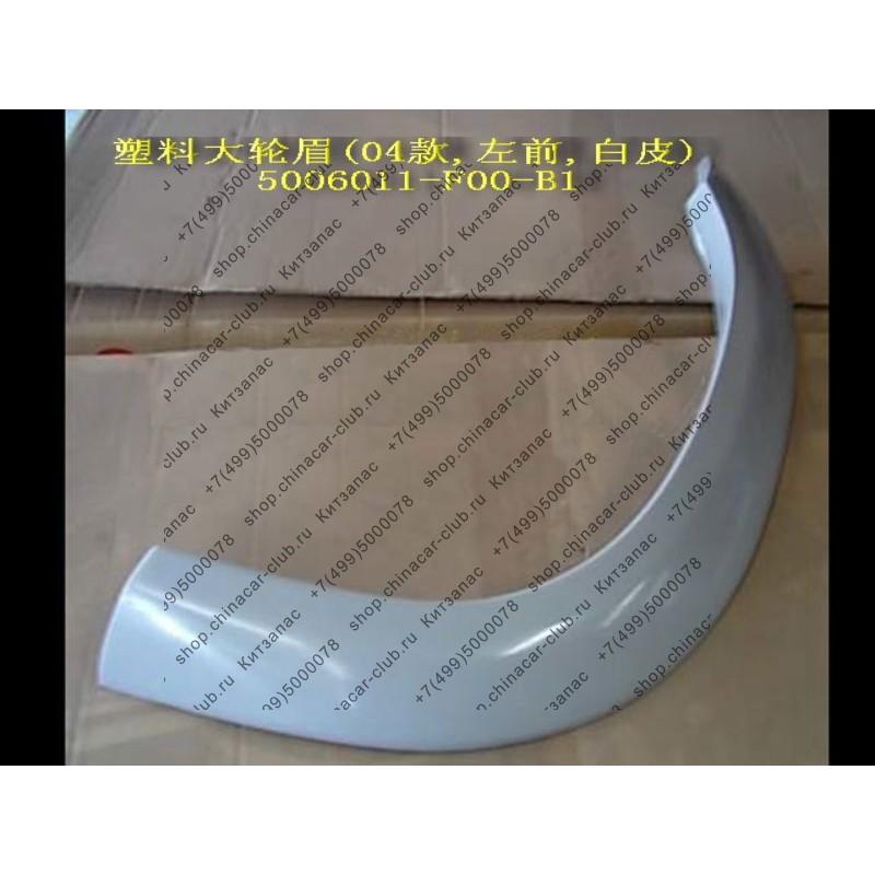 Арка декоративная переднего левого крыла (пластик, широкая) Safe