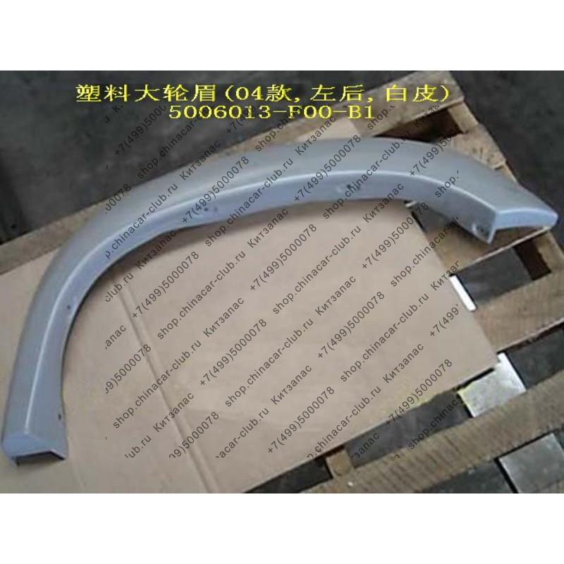 Арка декоративная заднего левого крыла (пластик, широкая) Safe