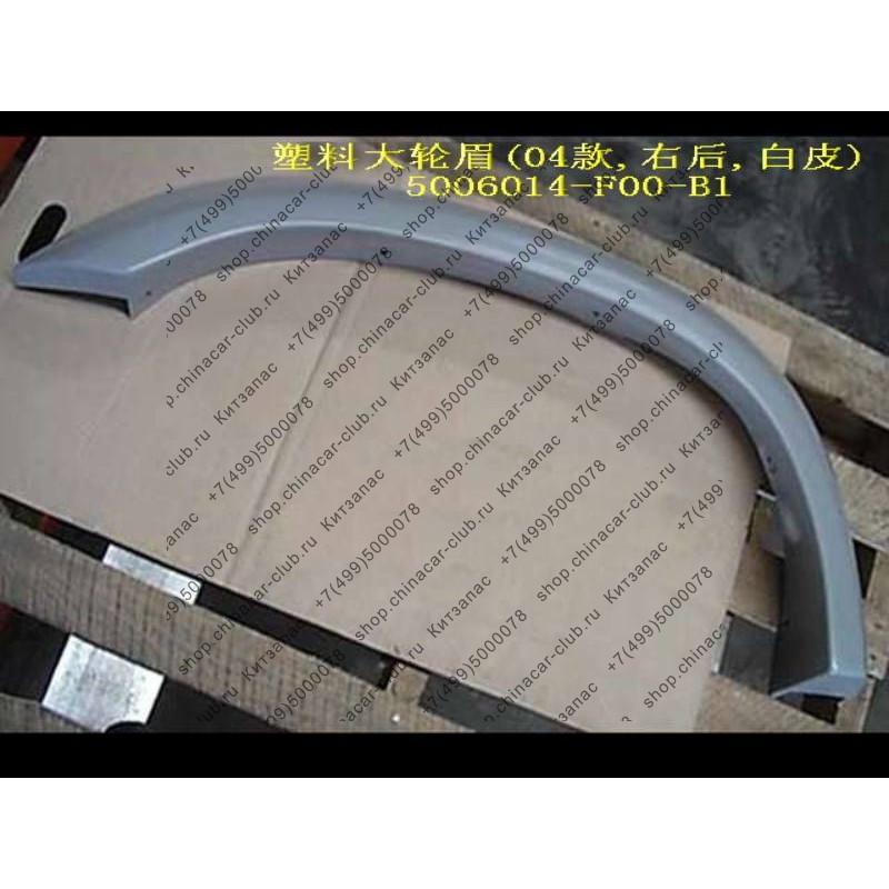 Арка декоративная заднего правого крыла (пластик, широкая) Safe