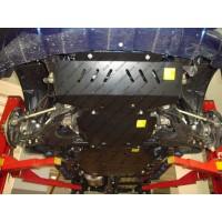 Защита картера (ДНИЩА) автомобиля КОМПЛЕКТ (4 части) Great Wall Hover/Н3/Н5 бензин (2011-) ПАТРИОТ