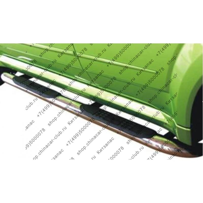 Защита порогов (полиров нержавеющ сталь) Great Wall Hover II (2004-)/Hover H3/Hover H5