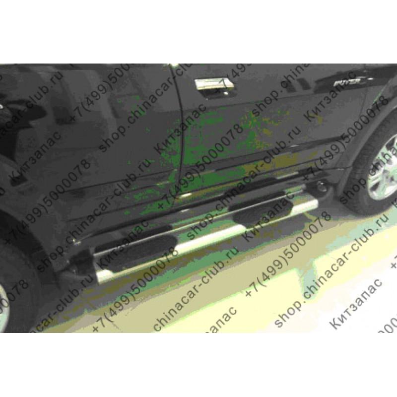 Защита порогов алюминий с накладками Great Wall Hover/Hover H3/Hover H5 WINBO B60